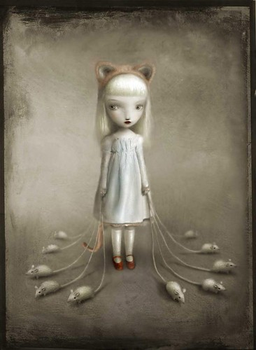 blanco,cat,girl,shoes,surreal,grey-ba17ed0bf4082eccb578d4c6c286b4d3_h