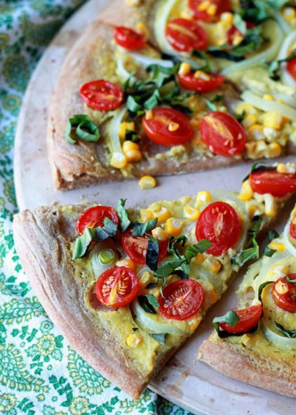vegan-summer-pizza-with-sweet-corn-tomatoes-and-basil2-700x980