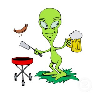 Alien-With-Beer-Mug-Funny-Cartoon-Picture